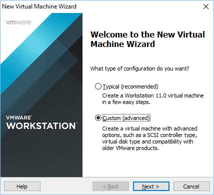 Configurando vmware vm 1