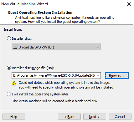 Configurando vmware vm 3