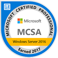 MCSA windows 2016