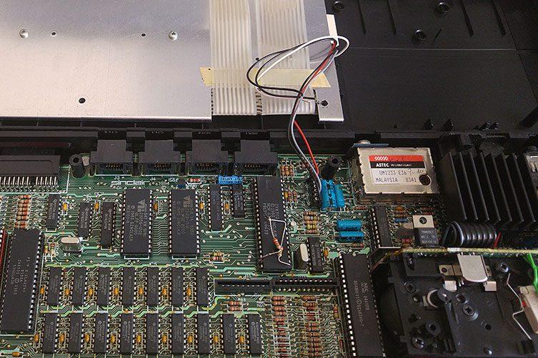 sinclair ql conexion membrana del teclado