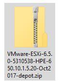HPE offline bundle VIB